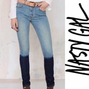 🎄🎁Sz 26/Jeans/Skinny/HiRise/Patch Shadow